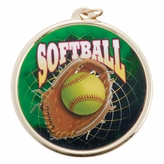 SOFTBALL MEDAL WITH 2 INCH MYLAR