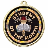 STUDENT OF THE MONTH MYLAR MEDAL MEDAL
