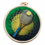 TENNIS MEDAL WITH 2 INCH MYLAR