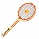 TENNIS RACKET ENAMELED PIN