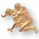 WRESTLER CHENILLE PIN GOLD
