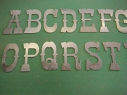 10 in.  Raw Metal Letters A-Z