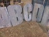14 in. Corrugated Metal Letters and Ampersand