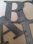 """4"""" Tall Metal Letters A-Z and Numbers 0-9"""