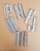 5 in. Corrugated Barn Tin Letters