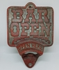 Bar Open Beer Opener Sign Cast Iron