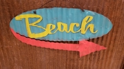 Beach Mid-Century Mini Retro Sign