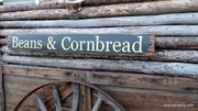 Beans and Cornbread Distressed Wood Sign