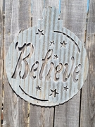 Believe Christmas Ornament Large