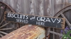 Biscuits & Gravy Served Here Distressed Wood Sign