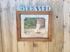 Blessed Wood Framed Metal Picture Frames 8x10
