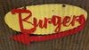 Burgers Mid-Century Mini Retro Sign