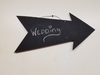 Chalkboard Arrow Wall Hanging