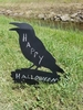 Chalkboard Crow with Bubble with Stake