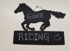 Chalkboard Horse with Block Wall Hanging