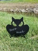 Chalkboard Owl with Stake