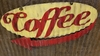 Coffee Mid-Century Mini Retro Sign