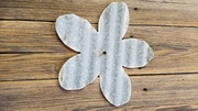 Corrugated Barn Tin Flower Petal Large