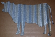 Corrugated Metal Cow