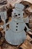 Large Corrugated Metal Snowman