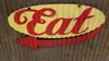 Eat Mid-Century Mini Retro Sign