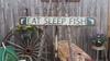 Eat Sleep Fish Distressed Wood Sign