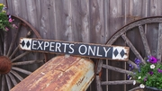 Experts Only Distressed Wood Sign