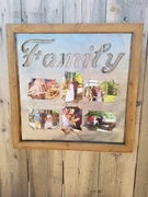 Family Wood and Metal Picture Frames 4x6