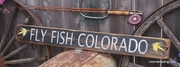 Fly Fish Colorado Distressed Wood Sign