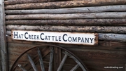 Hat Creek Cattle Company Distressed Wood Sign