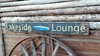 Lakeside Lounge Distressed Wood Sign