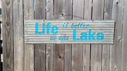 Life is Better at the Lake Sandwich sign