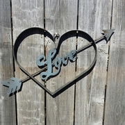 Love Heart with and Arrow Wall Hanging