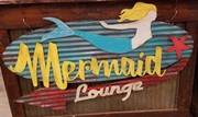 Mermaid Lounge Retro Sign