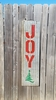 Metal Joy with Christmas Tree Sandwich sign