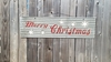 Metal Merry Christmas Sandwich sign