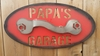 Metal Papas Garage sign 3D