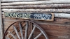 Moonshine 100% Courage Distressed Wood Sign