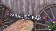 Paradise Bar Distressed Wood Sign