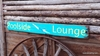 Poolside Lounge Distressed Wood Sign