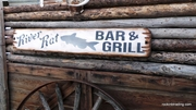 River Rat Bar & Grill Wood Sign