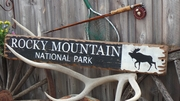Rocky Mountain National Park Distressed Wood Sign