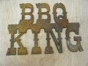 Rusted Metal BBQ King Sign