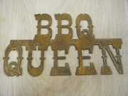 Rusted Metal BBQ Queen Sign