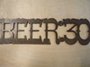 Rusted Metal Beer:30 Sign
