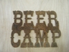Rusted Metal Beer Camp Sign