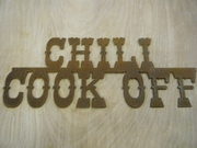 Rusted Metal Chili Cook Off Sign