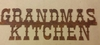 Rusted Metal Grandmas Kitchen Sign