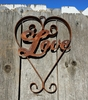 Rusted Metal Love Heart Sign