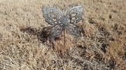 Metal  Butterfly Garden Critter with metal stake